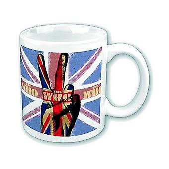 The Who Mug Peace Fingers Band Logo new official Boxed