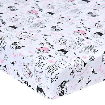 Baby Bed Ingerichte Blad, Wieg Driehoek Design Bedding Protector Cover