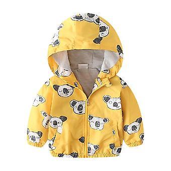 Manteau à capuchon veste d'automne pour enfants, vêtement d'extérieur, coupe-vent de printemps