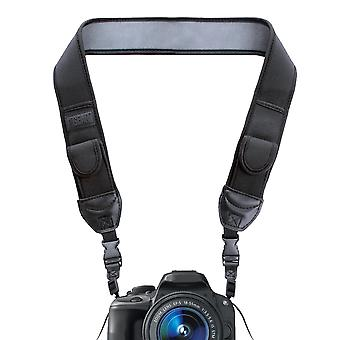 Usa gear digital camera neck strap with neoprene design, accessory pockets and quick release buckles