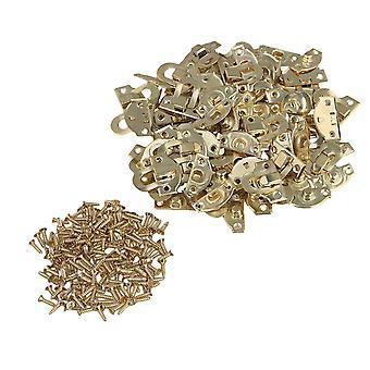 21x20mm Mini Decorative Buckle Shackle Lock Padlock Hasp Jewelry Box Set of 200