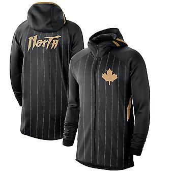 Toronto Raptors Anthracite 201920Earned Edition Showtime Full-zip Performance Hoodie