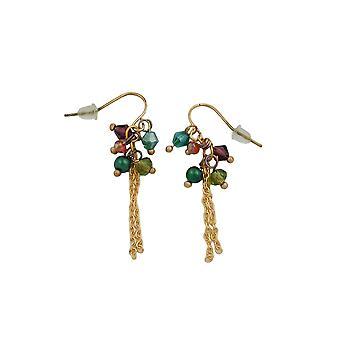 Hook Earrings Beads Multi Colour