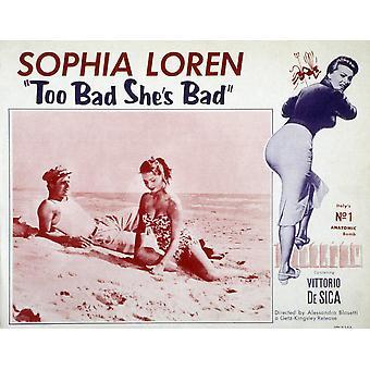 Too Bad SheS Bad Marcello Mastroianni Sophia Loren 1954 Movie Poster Masterprint