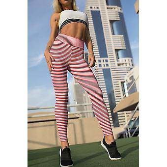 Thin Stripe High Waist Leggings
