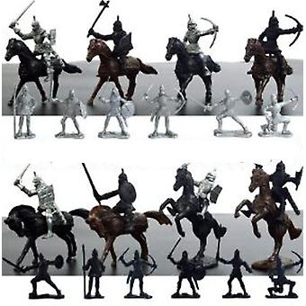 Medieval Knights, Warriors, Soldiers & Horses Figures Toy Playset
