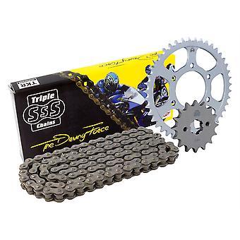 Triple S O-Ring 520 Zwarte Ketting en Sprocket 14T 38T voor Honda CBR250R 2011-13