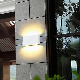 Modern Waterproof Outdoor 12w Led Wall Lamp Ip65 Aluminum Up And Down Garden