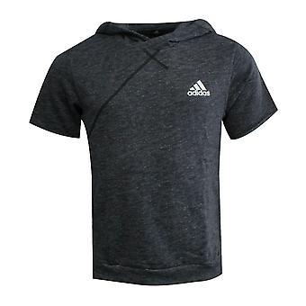 Adidas Cross Up Kısa Kollu Hoodie Koyu Gri Jumper Sweatshirt AZ2115 A76B