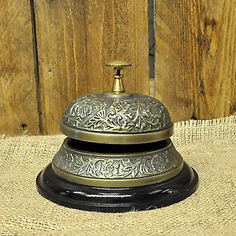 Antique Embossed Desk Bell