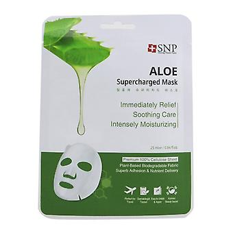 SNP Aloe Supercharged Mask (Moisture & Soothing) (Exp. Date: 08/2021) 10x25ml/0.84oz