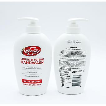 Lifebuoy Liquid Hygiene Anti-Bacterial Handwash 250ml pH Skin Neutral
