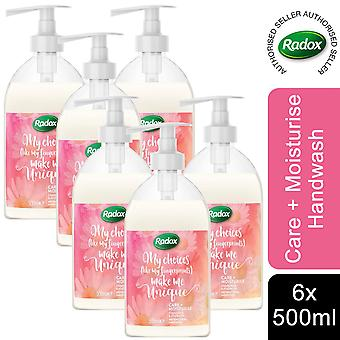 Radox Antibac Hand Wash, Care+Moisturise, 6pk, 500ml