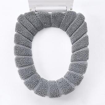 Nordic Style O-sticka bomullstråd Super Soft Toalettsitsdyna Förtjockad