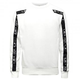 G-Star G- Star Raw Raglan Taping Crew Sweatshirt Milk White D19160