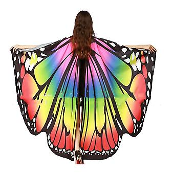 Rainbow Women Butterfly Wings Shawl Costume