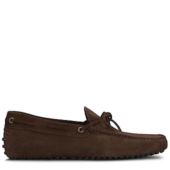 Moccassus Gommino Tod-apos;s In Brown Suede