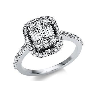 Luna Creation Promessa Ring Multiple Stone Trim 1U114W851-1 - Ring Width: 51.5