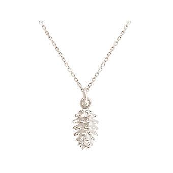 GEMSHINE kedja Alpint berg tallkon hänge 925 silver, guldpläterad eller ros