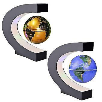 LED World Map Magnetic Levitation Floating Globe Strona główna Elektroniczna lampa antygrawitacyjna Nowość Piłka Światło Dekoracja urodzinowa