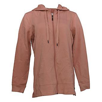 Denim & Co. Women's Active Français Terry Hooded Tunic Pink A374648