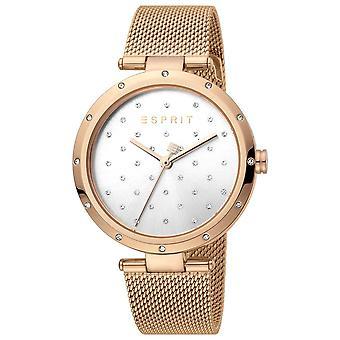 Esprit ES1L214M0075 Rose Gold Mesh Strap Ladies Watch