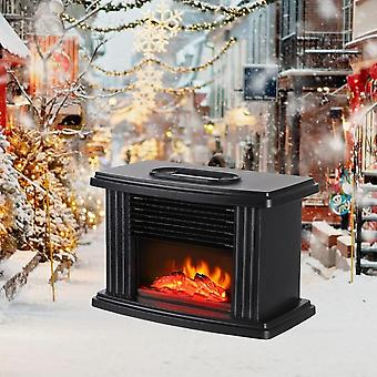 Electric Heater Portable Fireplace Remote Control Tabletop