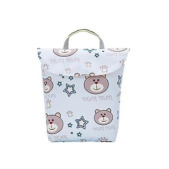 Multifunktionale Baby Windel Taschen, wiederverwendbar, wasserdicht, Organizer Portable, Groß