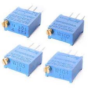 10pcs Kit de Potencialiômetro De Alta Precisão 3296w Resistor Variável 100r -1m 200r