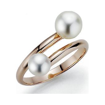 Anillo de perlas adriana anillo de mujer agua dulce plata blanca chapada G11-92