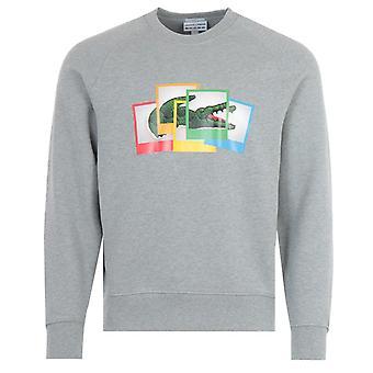 ラコステライブ×ポラロイドクルーネックスウェットシャツ - グレー