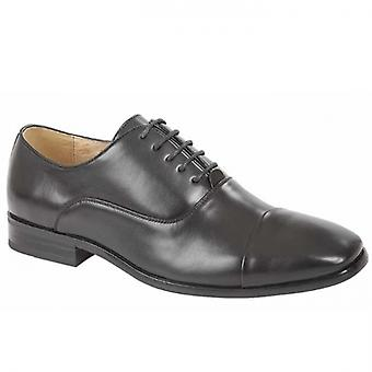 Goor Chester Mens Capped Oxford Shoes Black