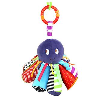 Octopus Baby Hanging Toys Children Rattle Toys With Chime Bb Device Bell Soft Plush Rattling Doll