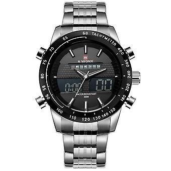 Men's Quartz Digital Analog Full Steel Wrist Watch