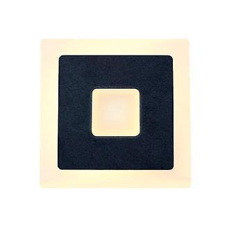 18w Led Lampy ścienne AC85 265V Sypialnia Światła (Czarny)
