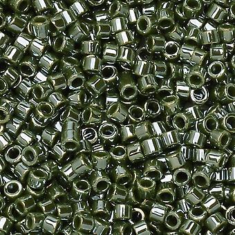 Perline di semi Miyuki Delica, taglia 11/0, tubo da 7,2 grammi, #1566 di avocado opaco