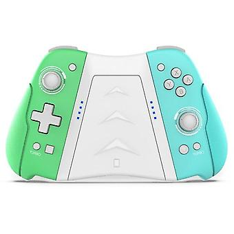 Wireless Game Controller for N Switch Turbo Dual Vibration Programmable Bluetooth Gamepad(green&blue)