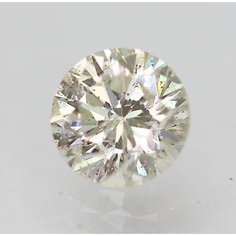 Sertifioitu 0,72 karat I VS1 pyöreä loistava parannettu luonnon timantti 5,67mm 3VG