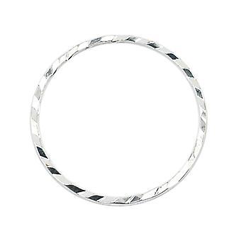 Beadalon Silver Plated Diamond Cut Quick Links 20mm Rund (10 st)