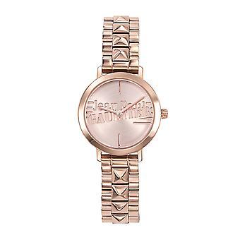 Jean Paul Gaultier dameshorloge - 8506204 - Roze gouden stalen armband