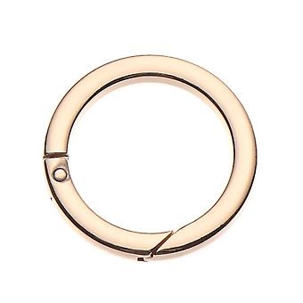 Zinc Alloy Plated Gate Spring, O-ring, Bag Buckles Clips, Carabiner Purses,