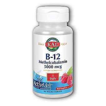 Kal Ultra B-12 Methylcobalamin ActivMelt, 5,000 mcg, 90 Onglets