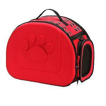 S 36 *23 * 20cm rød udendørs bærbare foldbare kæledyr kat taske az13009