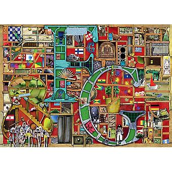"""Ravensburger Colin Thompson Awesome Alphabet """"F & G"""" Jigsaw Puzzle (1000 Pieces)"""