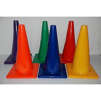 """Vinyl Cones Set Of 6 - 18""""Height"""