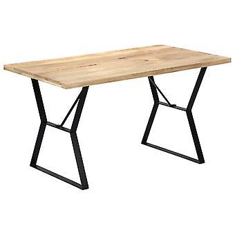 vidaXL طاولة الطعام 140 × 80 × 76 سم المانجو الخشب الصلب
