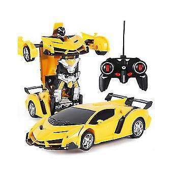 Пульт дистанционного управления деформация робот полиция автомобиль пульт дистанционного управления игрушка дети зарядка игрушка