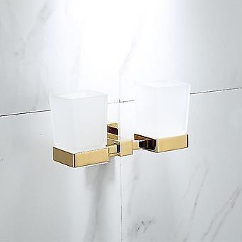 Ylellinen kultainen kylpyhuone messinki laitteisto asettaa pyyheteline paperiteline wc wc harja pidike