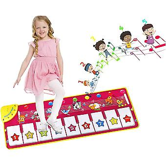 Children's Piano Mat With 8 Animal Voices Keyboard Toy