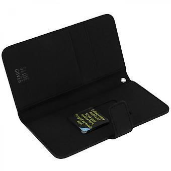 Muvit - Wallet Cover Black Universal Slide Cover Size M